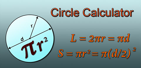 Fast circle calculator, android app